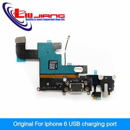 New Genuine Original Charging Port Dock Connector & Headphone Jack Audio Flex Cable Mic Antenna for iPhone 6 4.7'' Grey/White(China (Mainland))