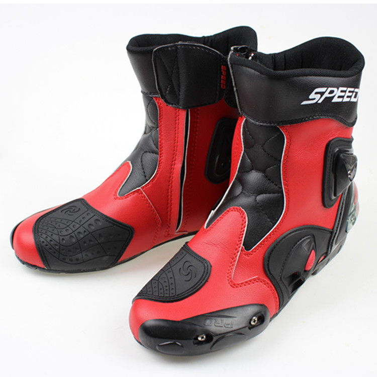 Free ship motorcycle boots SPEED pro-biker Racing Boots,Motocross Boots,Motorbike SIZE: 40/41/42/43/44/45 Red - Ride all over the world store