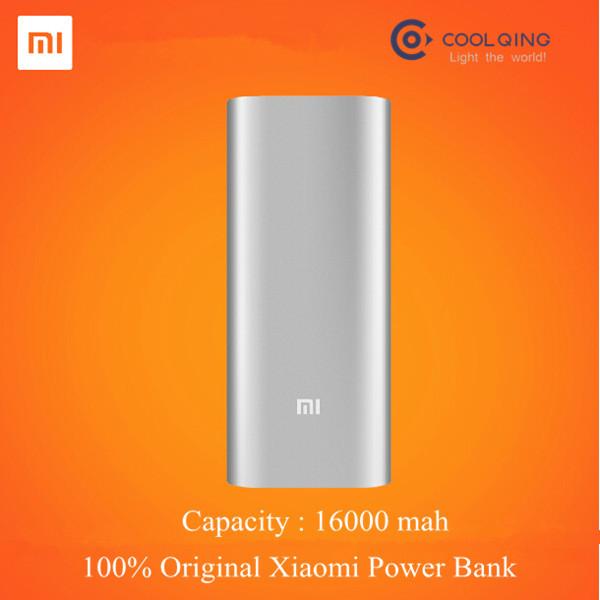 Best Original Dual USB Xiaomi 16000 mah Mi Power Bank Portable Batteria Esterna Movil Charger For Telephone Tablet