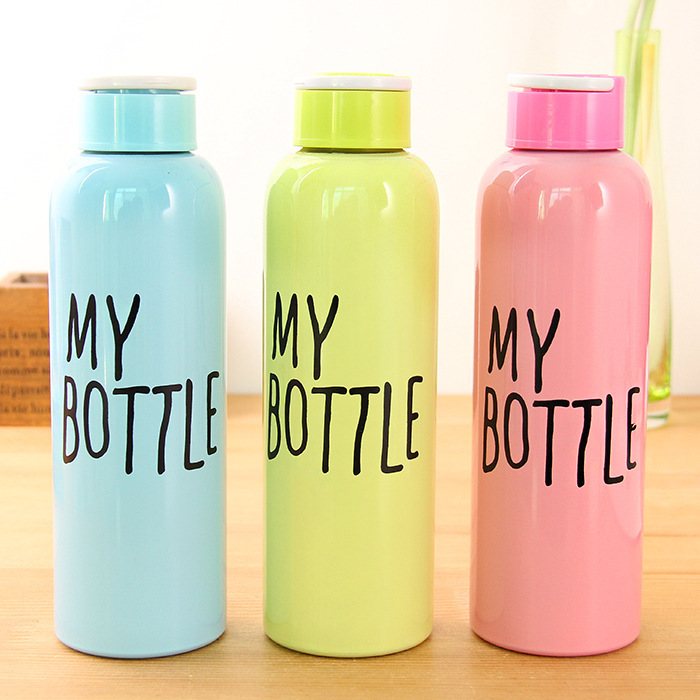 2015 Newest My Bottle Water Bottle Summer Fashion 650ml Stainless Steel Thermoses for Women Drinking Cup Vacuum Flasks(China (Mainland))