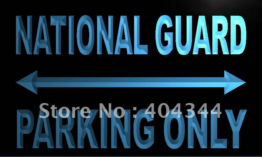 LN378- National Guard Parking Only LED Neon Light Sign home decor crafts(China (Mainland))