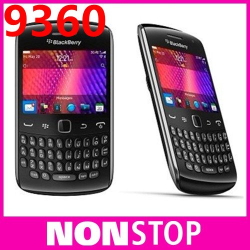 9360 Original BlackBerry Curve 9360+WIFI+A-GPS+5MP+QWERTY Keyboard+2.4''TouchScreen+3G Unlocked Mobile Phone Free Shipping(China (Mainland))