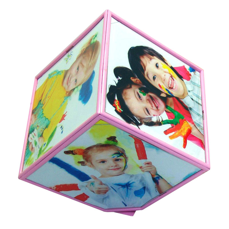 1x Magic Cube 360 Rotating Picture Frame 2 Colors Multi Photo Frame Home Office Decor(China (Mainland))