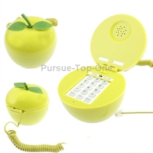 Creative Green for Apple Shape Wire Corded Telephone Home Telephone for the Home