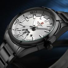 Buy NAVIFORCE Watch Mens Luxury Brand Quartz Watch Men Waterproof Sport Watches Full steel Black Wristwatches relogio masculino for $17.50 in AliExpress store