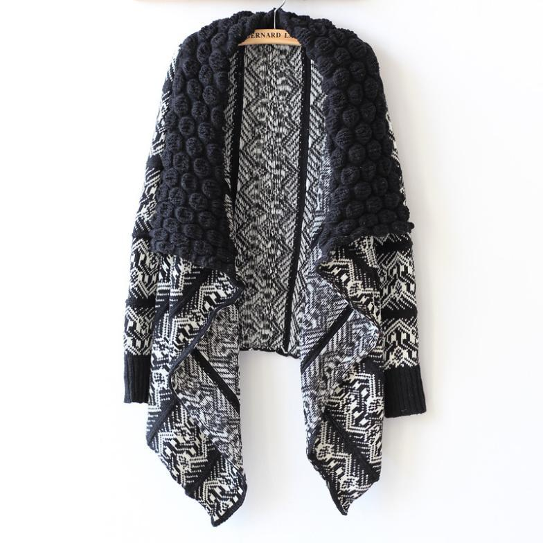 2015 Autumn and Winter Cardigan Fashion Women Sweater Women Big Casual Knitting Sweater Women