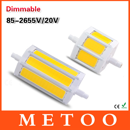 Dimmable R7S COB Led Lamp Led Light 5730SMD 10W 20W 85-265V 220V Lampada Replace Halogen Lamp Bulb Floodlight 79 118 mm J78 J118(China (Mainland))