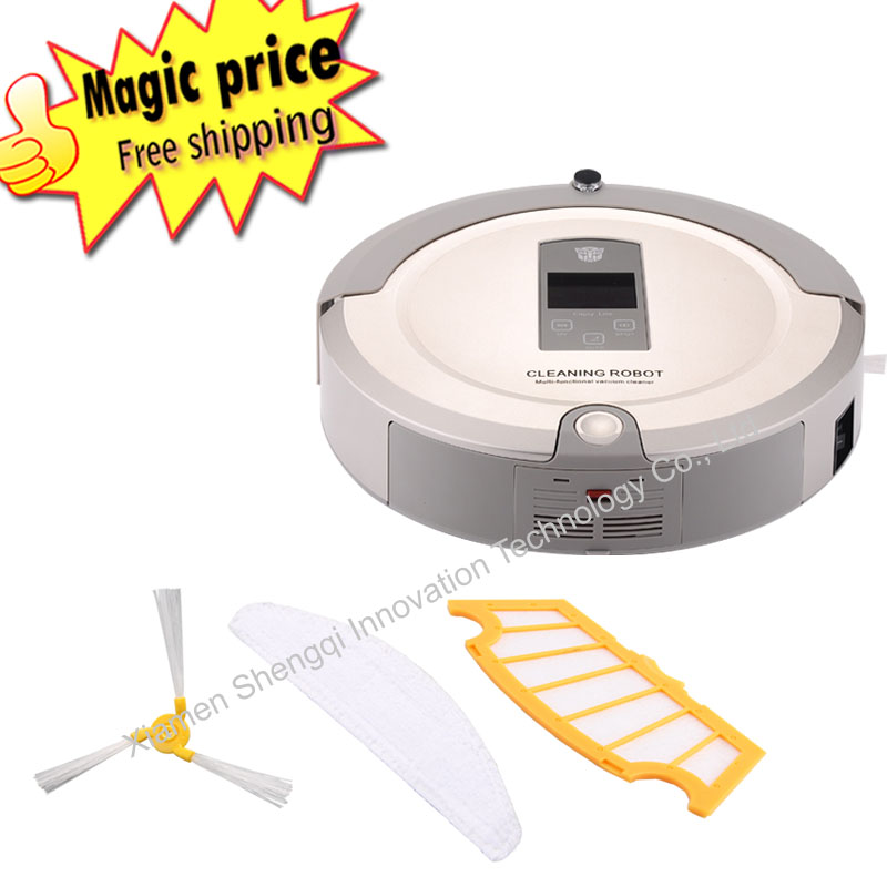 Hot robot vacuum cleaner household automatic cleaning slim wireless remote control aspiradores(China (Mainland))
