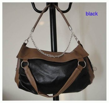 fashion handbag,Size:38 x 30cm,PU + Accessories,4 different colors, long shoulder strap,promation for christmas! Free shipping