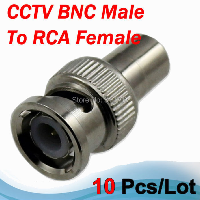 Free shipping 10 pcs/lot BNC Male to RCA Female Adapter Plug For Coax Video Cable CCTV DVR Converter(China (Mainland))