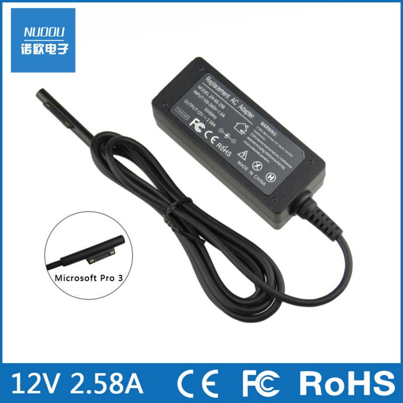 12 V 2.58A 36W power adapter carregador para Microsoft Surface Pro 3 direto da fabrica de alta qualidade(China (Mainland))