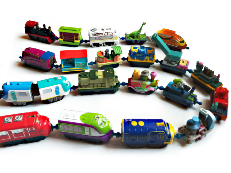 10 pcs mini metal&plastic vehicle locomotive child scale diecast model toy collection chuggington train(China (Mainland))
