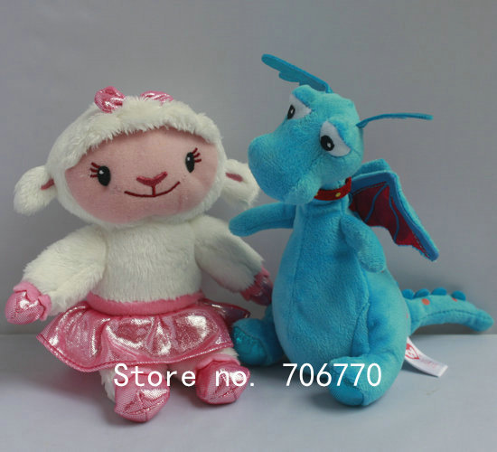 """LOTS 1pair By Ty original Doc Mcstuffins Friends Lambie Stuffy 15cm 6"""" cute Stuffed Dolls Plush toy FREE SHIPPING IN HAND!(China (Mainland))"""