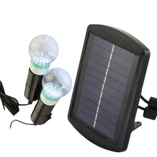 LED Solar Light Outdoor Garden Light With 2 Bulbs Luminaria Lighting Luzes De Natal Solar Lantern Waterproof Garden Lighting(China (Mainland))