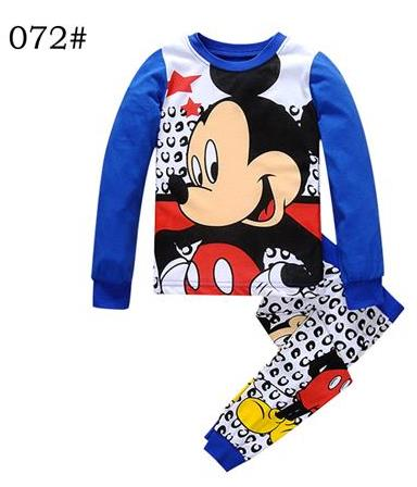 1 set Children Cotton Long Sleeve Cartoon Spiderman Pajamas Baby Girl Boys Superman Sleepwear kids t-shirts+pants clothes set(China (Mainland))