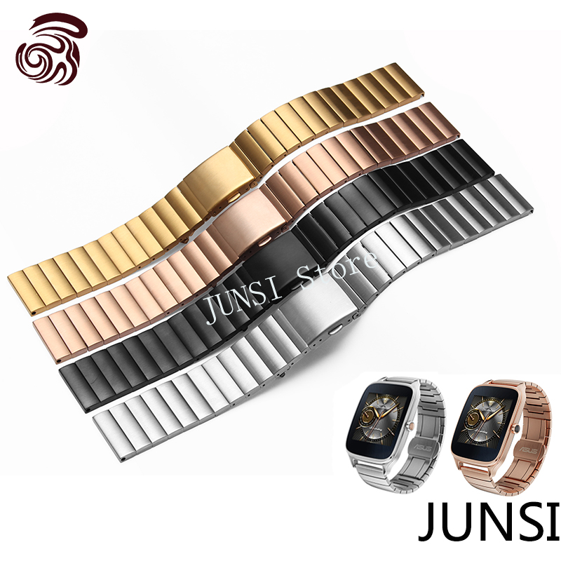For <font><b>ASUS</b></font> Zenwatch 2 Quality stainless steel Watchband For LG G <font><b>Watch</b></font> W100 W110 Urbane W150 <font><b>Smart</b></font> <font><b>Watch</b></font> Men's Luxury accessories
