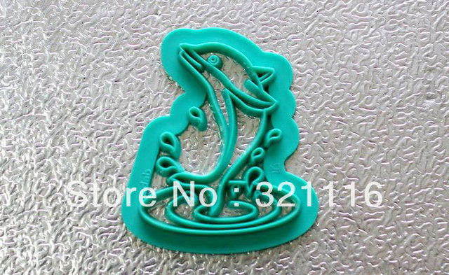 Free Shipping DAB Impression die,Dolphin pattern Sugar cake mould,Silicone, Cake mold,Sugar tools, Exclusive products,TS178