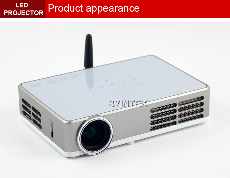 Bluetooth wifi android home theater dlp led 3d hdmi video for Bluetooth projector for iphone 6