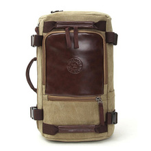 Men's Travel Bags Casual Men Canvas Shoulder Backpack With Three Large-capacity Multi-purpose Bag Mountaineering backpacks(China (Mainland))