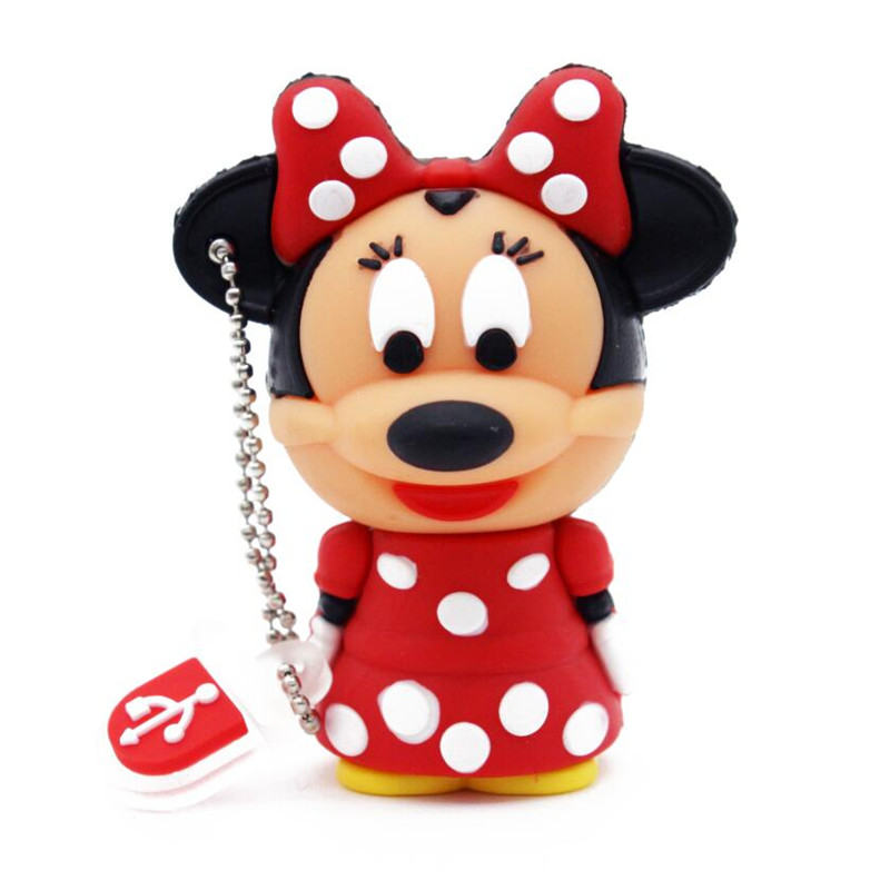Free shipping Lovely mini Mouse Mickey and Minnie USB Flash Drive pen drive Gift cartoon pendrives 1gb/2GB/4GB/8GB/16GB/32GB(China (Mainland))