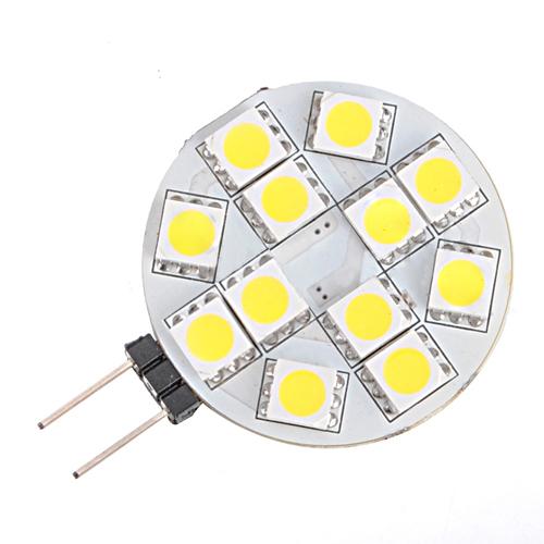 SAF Wholesale 3X G4 12 SMD 5050 LED Warm White RC Marine Light Camper Spotlight Bulbs Lamp 2W(China (Mainland))