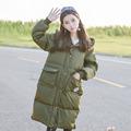 Mori Girl 2016 Winter Women Eiderdown Down Coat Hooded Long Sleeve Loose Long Coat Warm White