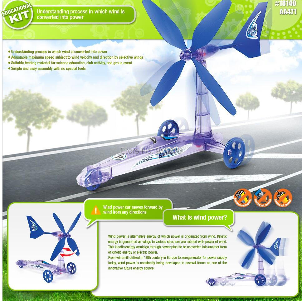 New Green Energy Removable Windmill Plane Assembled Toys,Build Your Own Wind Powered Car Older Boys Educational Science Kit Toys(China (Mainland))