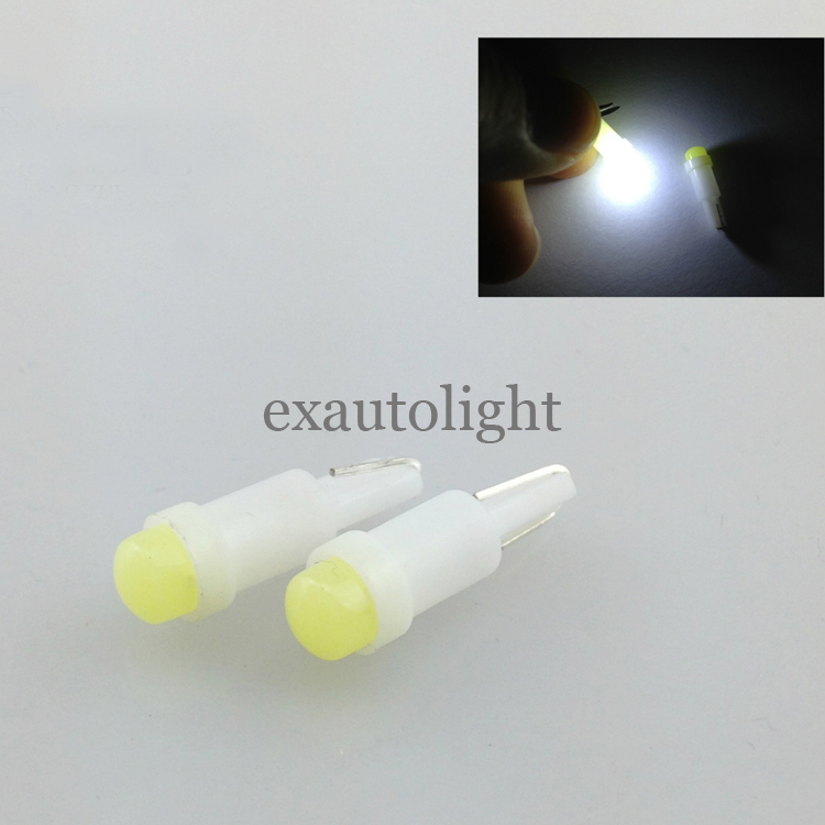 Wholesale Bright White T5 1SMD Dashborad Light 1LED 74 T5 Ceramic adapter Mini Wedge led car dome light Bulbs 12V(China (Mainland))