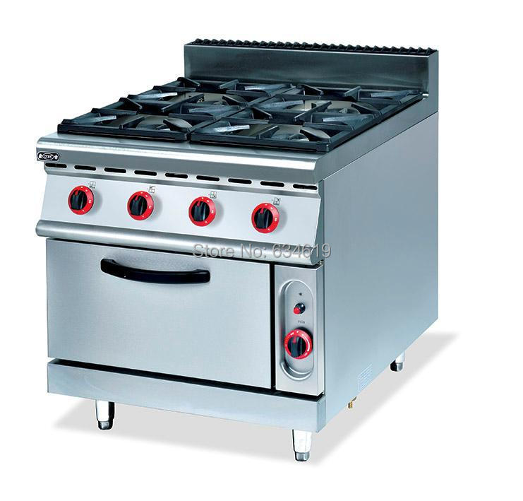 Commercial Stand Four Gas Kitchen Stove Food Cooking Lpg