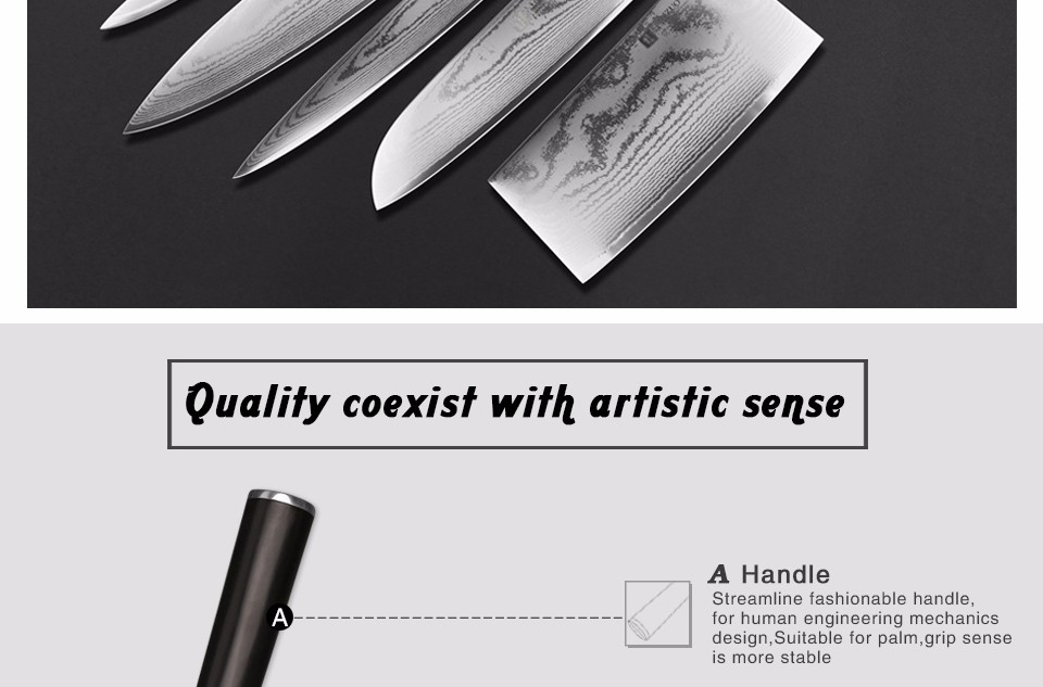 "Buy XINZUO 67 layers 7 "" santoku knife Japanese VG10 Damascus kitchen knife Japanese chef knife ebony wood handle free shipping cheap"