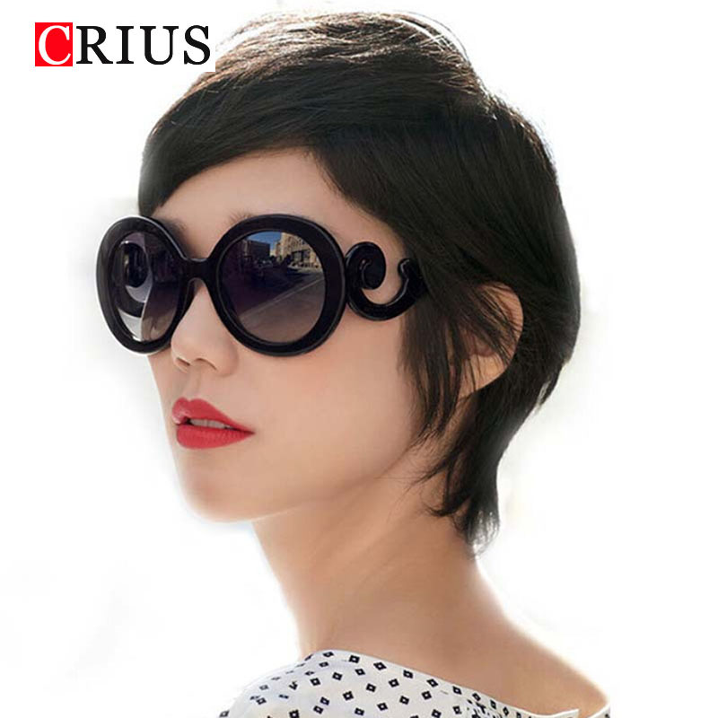 D 2017 new Free shipping fashion sunglasses for women's Retro Round Waves Butteryfly Design Vintage Sun glasses Novelty UV400