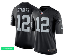 Men's 2016 free shipping,100% Stitiched,Oakland Raiders Ken Stabler #12(China (Mainland))