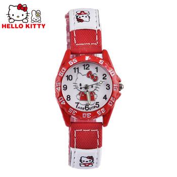 Hello Kitty Kids Watches Children's Watches Cartoon Girls Watches Leather Baby Watch Children Clock Gift relogio reloj montre