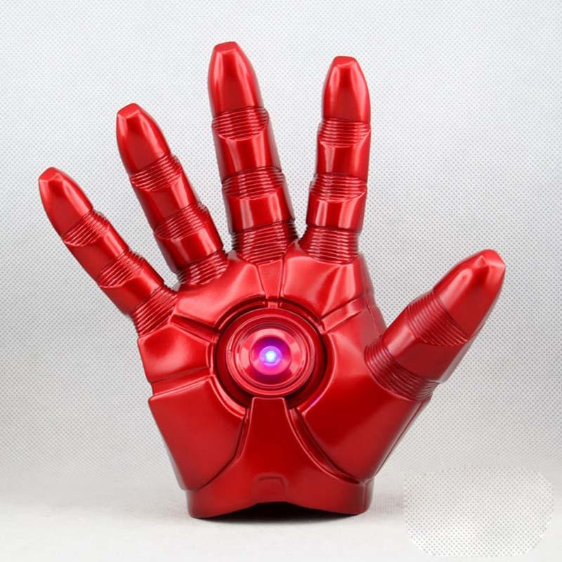 Free Shipping Superhero Iron Man Mark 3 Gloves with LED Light PVC Action Figure Toy 1pcs