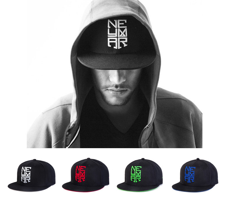 Free Shipping Letter Embroidered NEYMAR JR Baseball Hat Cap Fashion Adjustable Hip Hop Caps Outdoor Snapback Hats For Men Women(China (Mainland))