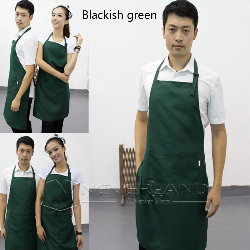 1 X New Unisex Women Men Kitchen Restaurant Bib Cooking Aprons With Pocket Baking Mats Gift