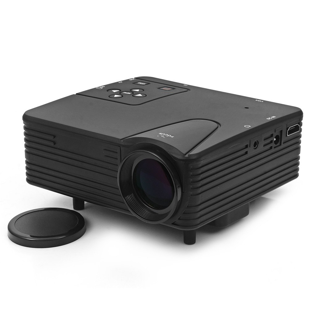 Lz h80 portable home led frosted projector mini projector for Projector mini projector