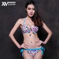 High Quality fabrics Explosion Models Girl Bikini Set Removable chest pad Bikini Set Lace sexy Printing