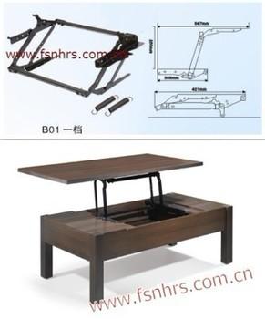 Lift up coffee table mechanism B01