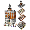 LEPIN 15003 Creators The Town Hall Model House Building Kits Minifigure Blocks Kid Toy Gift Compatible