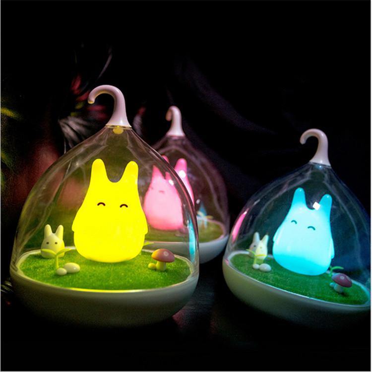 Newest Design Night Lamp Totoro Cute Portable Touch Sensor USB LED Lights For Baby Bedroom Sleep Lighting Art Decor(China (Mainland))