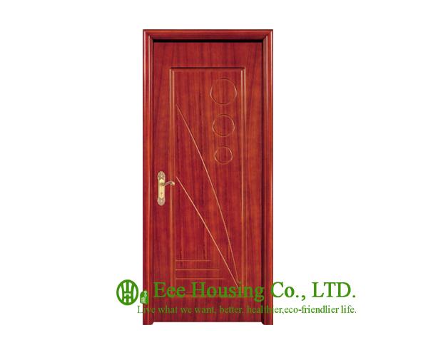 Buy 40mm Thickness Timber Veneer Door For Apartment Swing Type Door Inward