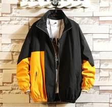 Brand Fashion Jacket Men 2019 Autumn Spring Patchwork Japan Style Clothing Plus ASIAN SIZE M-5XL(China)