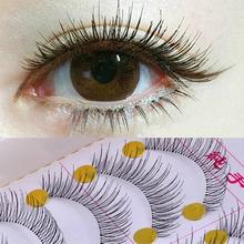 10Pair Reusable Natural And Regular Long Eyelashes False Eyelashes Artificial Fake Eyelashes Makeup Eye Lashes To Build Cilios(China (Mainland))