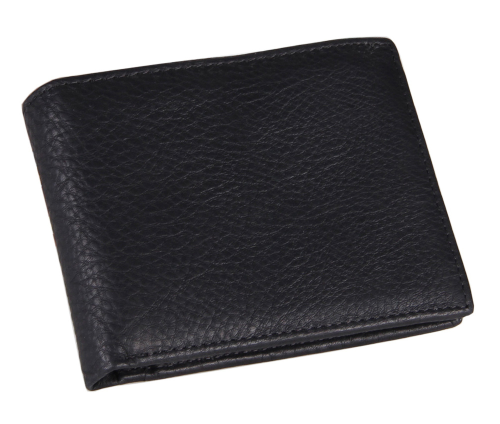New genuine leather men wallet fold short wallet fashion brand design purse high quality man wallets(China (Mainland))