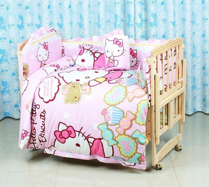 Фотография Promotion! 10PCS Baby cot crib bumper bed baby crib bedding set kit baby bedding (bumper+pillow+matress+duvet)