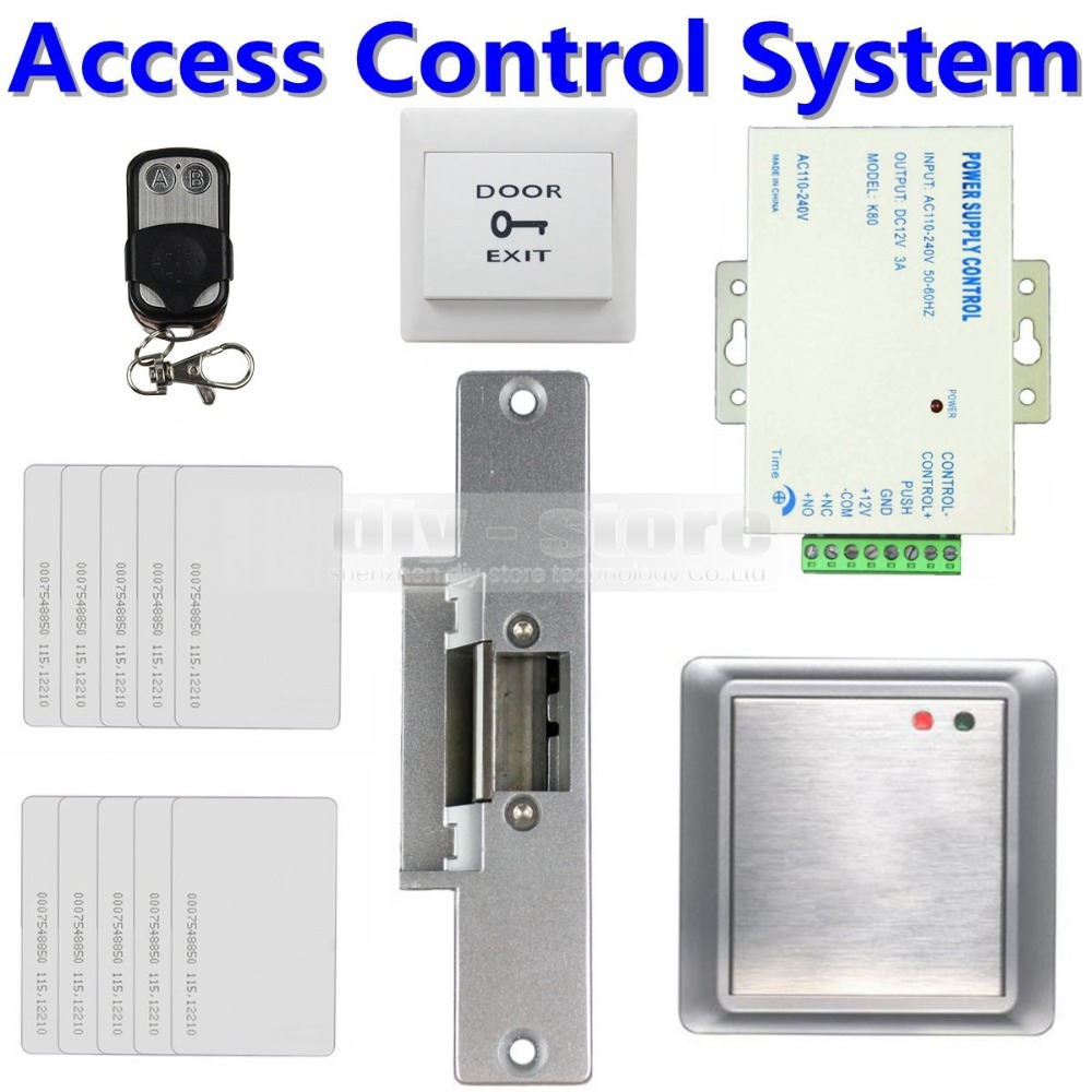 DIY Kit Complete 125KHz RFID Keypad Access Control System + Strike Lock + Remote Controller Security Product 8168A(China (Mainland))
