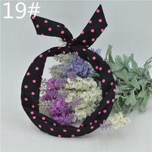 1 pieza lindo leopardo puntos labios estampado flor conejo oreja cinta diadema cinta de pelo cinta de Metal accesorios(China)