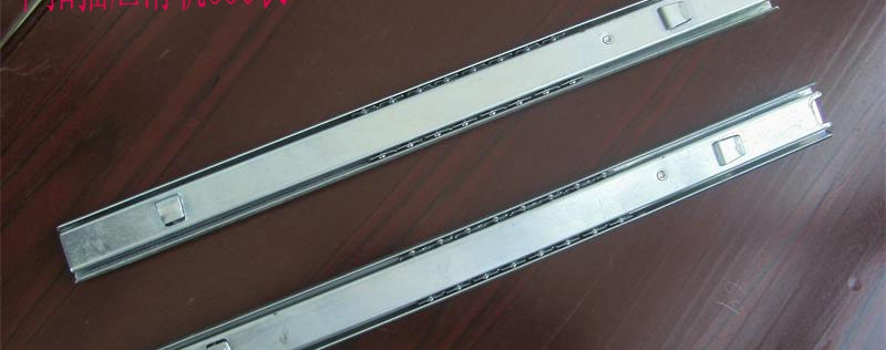 Metal cabinet file filing drawer slides with two hole cards slide accessories(China (Mainland))