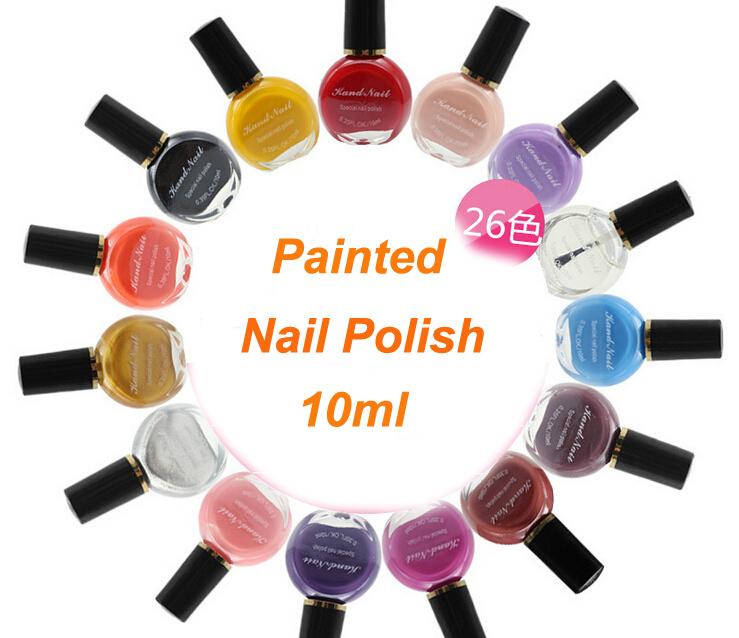 1pcs x 26 Colors Choices! Professional Nail Polish Painting Stamping Nail Varnish Beauty Gel Nail Polish Nail Art Tools#NPP-26(China (Mainland))